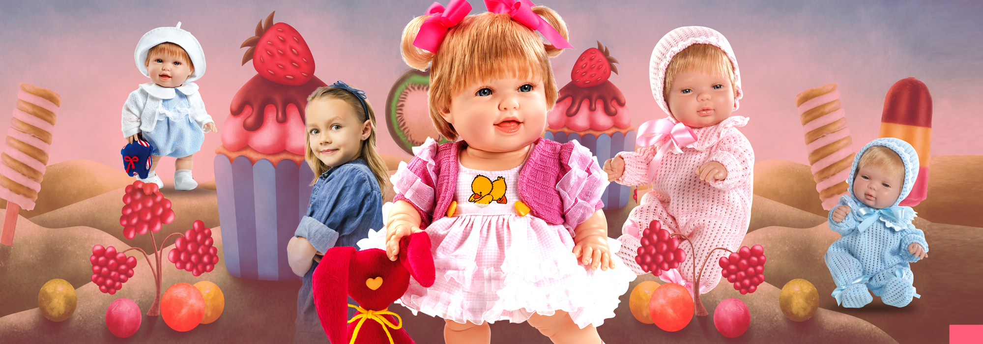 Banner bebes Boutique Dolls